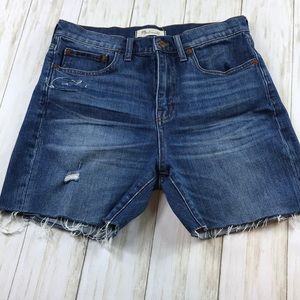 Madewell High Waist Cutoff Jean Shorts